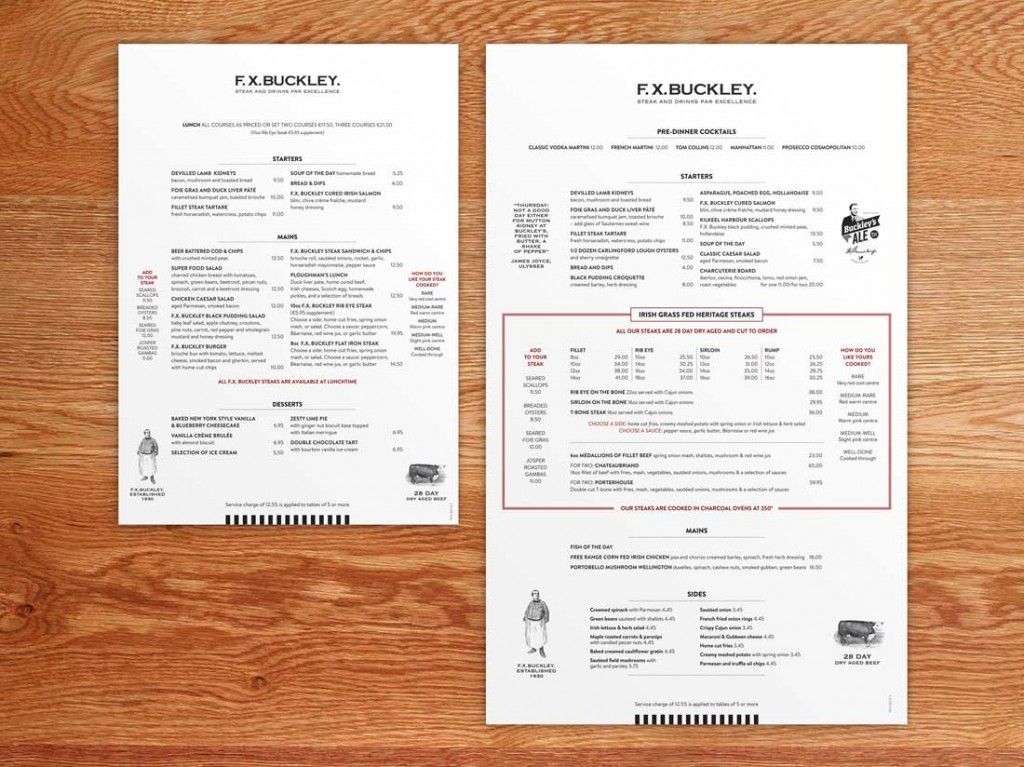 FXBuckley menus
