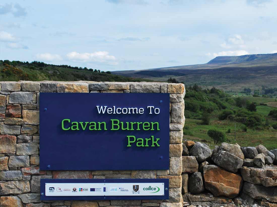 Cavan Burren Park signage